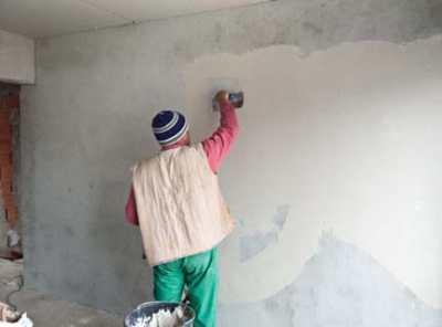 Штукатурка бетонных стен методом «набрызга&#187